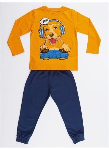 Denokids Yeah Dj Erkek Çocuk Pantolon Takım Renkli
